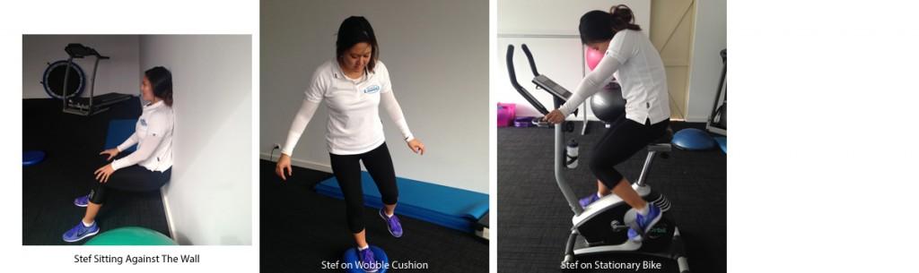 Stef's rehabilitation Exercises